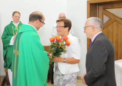 Powitanie na Mszy św. nowego ks. Proboszcza Dariusza Marczaka 2016