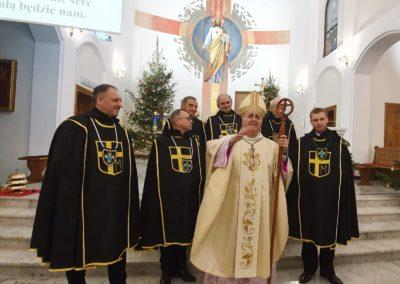 Rycerze Jana Pawła II na Pasterce z Nucjuszem Apost. abp Salvatore Pennacchio 2019